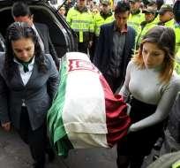 BOGOTÁ, Colombia.- El cortejo fúnebre estaba encabezado por un payaso de tez taciturna y llorosa. Foto: EFE