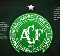 El club brasileño Chapecoense decidió modificar el escudo de la institución.