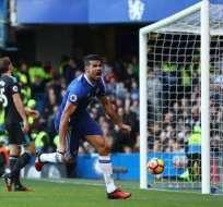 Diego Costa le dio el noveno triunfo consecutivo al Chelsea y le devolvió el liderato de la Premier League.