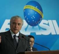 El expresidente de la constructora habría declarado contra Temer a cambio de la reducción de pena.Foto: EFE