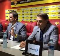 José Francisco Cevallos (c.) habló sobre la demanda de Taxinet a Barcelona. Foto: API