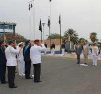 SALINAS, Ecuador.- El presidente Rafael Correa cambió a la Cúpula Militar el 9 de diciembre pasado. Foto: Twitter Defensa