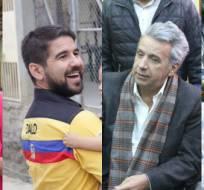 Viteri y Bucaram apuestan por Manabí. Moreno y Lasso, por Quito y Guayaquil. Foto: Collage.