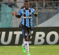 El delantero nacional fue el fichaje estrella del Gremio. Foto: Tomada de http://lared.com.ec