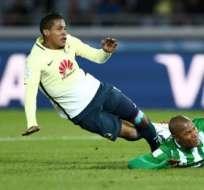 'Gambetita' marcó el descuento parcial para el cuadro mexicano. Foto: AFP