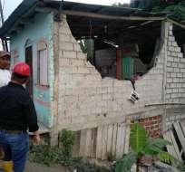 Una persona falleció por un infarto tras los movimientos telúricos en Esmeraldas. Foto: Gobernación Esmeraldas