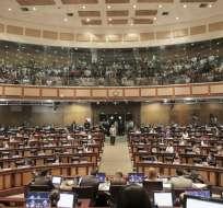 QUITO, Ecuador.- Luego de 6 horas de sesión, el legislativo retomaría el análisis del proyecto este jueves. Foto: Asamblea Nacional