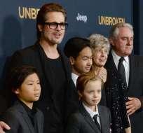 Brad Pitt cumplió 53 años hace poco, pero la pasó sin sus hijos. Foto: Agencias