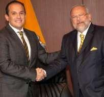 ECUADOR.- En total, 80 personas son investigadas, entre ellas los exgerentes Álex Bravo y Carlos Pareja Yannuzzelli. Collage: Ecuavisa
