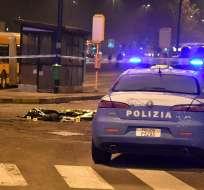 El principal sospechoso del ataque en Berlín fue abatido cerca de una estación de trenes en Italia. Foto: AFP