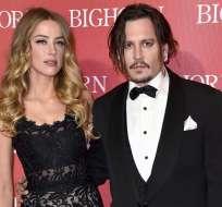 Amber Heard y Johnny Depp se casaron en febrero de 2015. Foto: Tomada de ElPeriódico.com