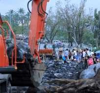 Más de 383.000 personas fueron evacuadas de sus hogares por medida de precaución. Foto: AFP