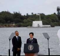 PEARL HARBOR, EE.UU.- ambas personalidades lideraron un acto que puso en primer plano la fuerza de la reconciliación. Foto: EFE.