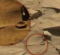 Así lo indican ufólogos al revisar imágenes de la superficie del planeta. Foto: NASA