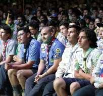 GUAYAQUIL, Ecuador.- El presidente Rafael Correa participó en la inauguración que reúne a miles de scouts. Foto: Presidencia de