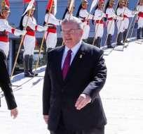 Amridis (al centro de la imagen) acudió a presentar sus credenciales al presidente Michel Temer en mayo de 2016.