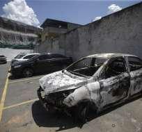 El cuerpo de Kyriakos Amiridis fue hallado calcinado dentro de su vehículo. Foto: EFE