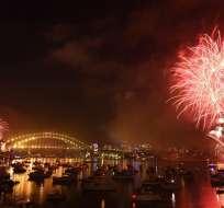 SIDNEY, Australia.- Para la celebración de Nochevieja en la ciudad australiana se emplearán siete toneladas de fuegos artificiales. Foto: EFE.