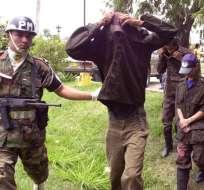 MONTECRISTO, Colombia.- La captura de los insurgentes permitió la liberación de ochos menores de edad en el departamento de Bolívar. Foto: EFE.