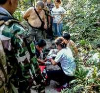 La víctima fue trasladada a un hospital, pero se encuentra fuera de peligro. Foto: AFP