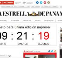 PANAMÁ.- Autoridades estadounidenses acusan a accionista mayoritario de Diario La Estrella de blanqueo de capitales. Foto: Captura.
