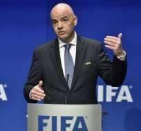 El presidente de la FIFA fue el principal promotor de esta idea. Foto: AFP