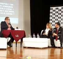 Periodista argentino participó en un evento que conmemora el décimo aniversario de Fundamedios. Foto: Fundamedios