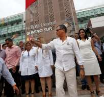 GUAYAQUIL, Ecuador.- El primer mandatario también entregó el tramo 6 del parque lineal, como parte del proyecto Guayaquil Ecológico. Foto: Presidencia