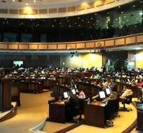 QUITO, Ecuador.- Galo Chiriboga y otras autoridades de control rinden cuentas de su gestión en la Asamblea Nacional. Foto: Fiscalía