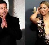 Brad Pitt, de 53 años,  habría comenzado una relación con  Kate Hudson.  Foto: AFP