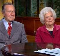 HOUSTON, EE.UU.- Bush y su esposa Barbara, no asistirán a la investidura de Trump debido a su estado de salud. Foto: CNN.