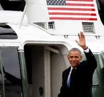 Desde la base Andrews aseguró que su mandato se trató siempre del pueblo norteamericano. Foto: AP