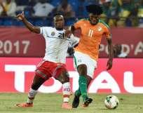Costa de Marfil logró su segundo empate y está tercera en su grupo. Foto: AFP
