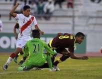Los 'incas' quefdaron últimos en el grupo B del certamen juvenil. Foto: AFP