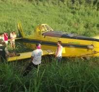 MANABÍ, Ecuador.- El piloto fue trasladado al hospital de Chone tras ser rescatado de la zona del percance. Foto: Cortesía Dirección de Aviación Civil