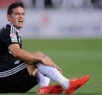 ESPAÑA.- James lleva sin jugar con el Real Madrid desde el partido contra Granada, el 7 de enero. Foto: Agencias
