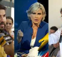 Los candidatos a la presidencia se pronunciaron sobre la ausencia de Lenín Moreno en el próximo debate. Foto: Collage.