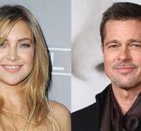 La prensa vinculó a Kate Hudson con Brad Pitt, tras aparición del actor en los Golden Globes. Foto: E Online.