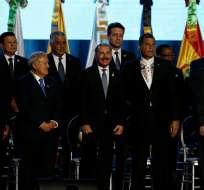 El mandatario arribó a República Dominicana para participar en la V Cumbre de Celac. Foto: EFE