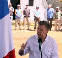 """COLOMBIA.- """"Hay que decirle a las FARC que todos los menores de 15 (años) deben salir de sus filas ya, como acordamos el año pasado"""", dijo Santos. Foto: EFE"""