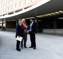 EE.UU.- El funcionario cumple agenda de trabajo en Washington para revisar también extradiciones. Foto: Fiscalía del Ecuador