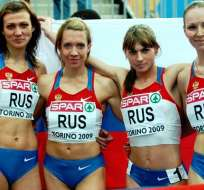 El equipo de relevo ruso ganó medalla de plata en la prueba 4X400 metros en Londres 2012.