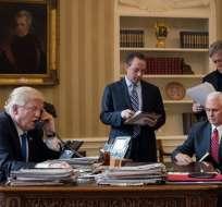 El presidente de EE.UU., Donald Trump el operativo del domingo en Yemen.