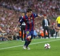Lionel Messi marcó en la goleada del FC Barcelona sobre el Athletic de Bilbao.
