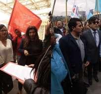 QUITO, Ecuador.- Hurtado pide incluir a Glas en los procesos; Montúfar, que se lo acuse de peculado. Collage: Ecuavisa / Fotos: API