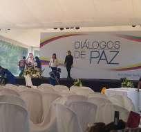 SANGOLQUÍ, Ecuador.- Para esta tarde está prevista, en la hacienda Cashapamba, la instalación de la mesa de negociaciones de ambos grupos. Foto: Paúl Romero / Ecuavisa