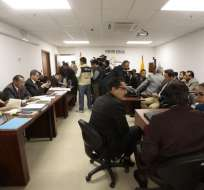 QUITO, Ecuador.- Los exfuncionarios Carlos Pareja Yannuzzelli y Álex Bravo son parte de los 18 acusados de cohecho. Foto: API