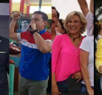 Presidenciales viajan alrededor del país para exponer sus propuestas de campaña. Foto: Collage.