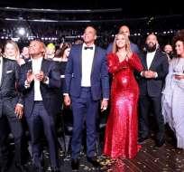 Las estrellas del mundo de la música lucieron sus mejores y peores looks en Los Ángeles. Foto: AFP