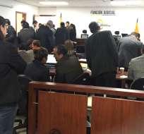 QUITO, Ecuador.- Los 18 procesados por este delito desistieron de presentar testigos y mostraron pruebas documentales. Foto: Paúl Romero / Ecuavisa